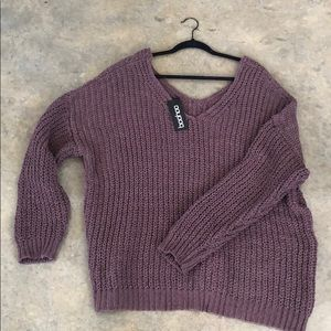 Boohoo oversized knit sweater